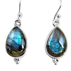 8.56cts natural blue labradorite 925 sterling silver dangle earrings p92797
