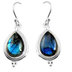 8.51cts natural blue labradorite 925 sterling silver dangle earrings p92798