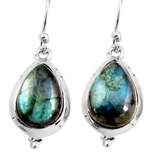 11.20cts natural blue labradorite 925 sterling silver dangle earrings p92799