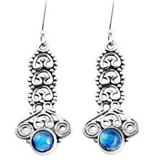 2.81cts natural blue labradorite 925 sterling silver earrings jewelry p39241