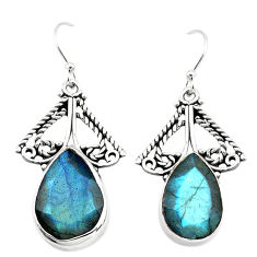 12.36cts natural blue labradorite 925 sterling silver earrings jewelry p70581
