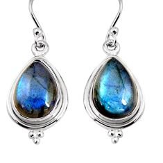 11.57cts natural blue labradorite 925 sterling silver earrings jewelry p92801
