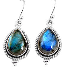 11.95cts natural blue labradorite 925 sterling silver earrings jewelry p92803