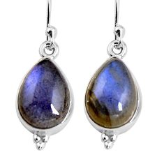 8.84cts natural blue labradorite 925 sterling silver earrings jewelry p92809