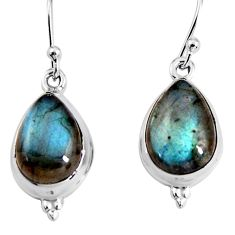 10.71cts natural blue labradorite 925 sterling silver earrings jewelry p92810
