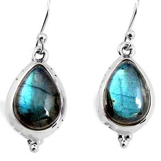 11.57cts natural blue labradorite 925 sterling silver earrings jewelry p92812