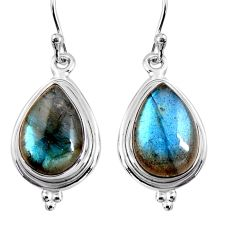 11.57cts natural blue labradorite 925 sterling silver earrings jewelry p92813