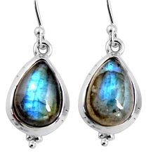 11.55cts natural blue labradorite 925 sterling silver earrings jewelry p92814