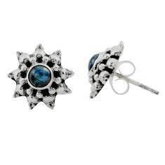 1.58cts natural blue labradorite 925 sterling silver stud earrings p88579