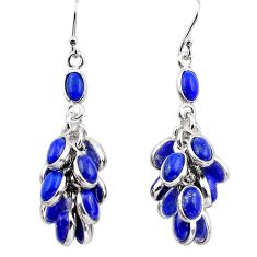 23.13cts natural blue lapis lazuli 925 silver chandelier earrings p88486