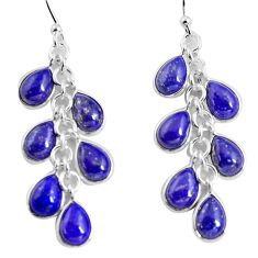 16.44cts natural blue lapis lazuli 925 silver chandelier earrings p90028