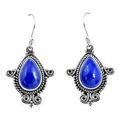 8.83cts natural blue lapis lazuli 925 sterling silver earrings jewelry p52868