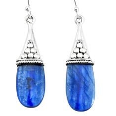 12.66cts natural blue owyhee opal 925 sterling silver dangle earrings p66447