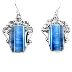 19.82cts natural blue owyhee opal 925 sterling silver dangle earrings p72720