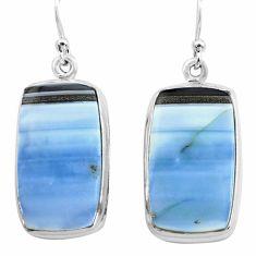 25.60cts natural blue owyhee opal 925 sterling silver dangle earrings p72777
