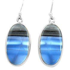 21.68cts natural blue owyhee opal 925 sterling silver dangle earrings p72778