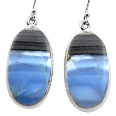 23.46cts natural blue owyhee opal 925 sterling silver dangle earrings p88769