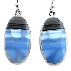 24.00cts natural blue owyhee opal 925 sterling silver dangle earrings p88770