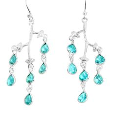 11.26cts natural blue topaz 925 sterling silver dangle earrings jewelry p43841