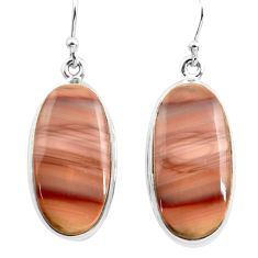 22.05cts natural brown imperial jasper 925 silver dangle earrings jewelry p72773