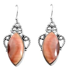 16.87cts natural brown imperial jasper 925 silver dangle earrings jewelry p91935
