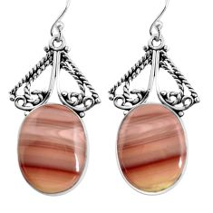 19.72cts natural brown imperial jasper 925 silver dangle earrings jewelry p91937