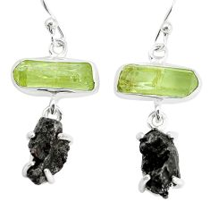 23.46cts natural campo del cielo apatite rough 925 silver earrings p35302
