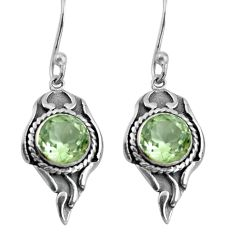 5.06cts natural green amethyst 925 sterling silver earrings jewelry d32562