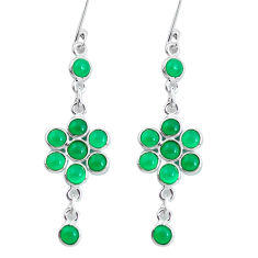 10.65cts natural green chalcedony 925 sterling silver dangle earrings p60593