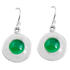 5.51cts natural green chalcedony 925 sterling silver dangle earrings p91471