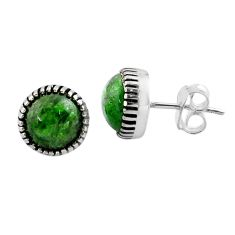 5.44cts natural green chrome diopside 925 sterling silver dangle earrings p88958