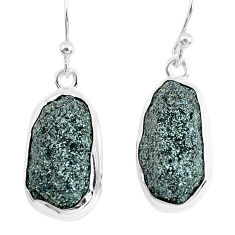 16.06cts natural green seraphinite in quartz 925 silver dangle earrings p50385