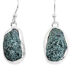 15.55cts natural green seraphinite in quartz 925 silver dangle earrings p50386