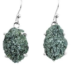 17.53cts natural green seraphinite in quartz 925 silver dangle earrings p50391