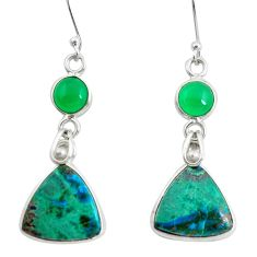 17.35cts natural green sonora sunrise 925 silver dangle earrings jewelry p50821