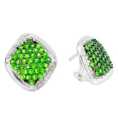 9.64cts natural green tsavorite 925 sterling silver earrings jewelry c3958