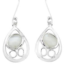 6.80cts natural grey moonstone 925 sterling silver dangle earrings p40184
