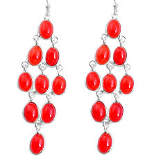 19.12cts natural honey onyx 925 sterling silver chandelier earrings p43952