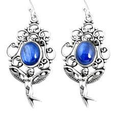 8.28cts natural kyanite 925 sterling silver angel wings fairy earrings p52005