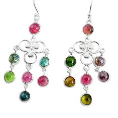 12.03cts natural multicolor tourmaline 925 silver chandelier earrings p43897