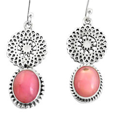 8.03cts natural pink opal 925 sterling silver dangle earrings jewelry p60825