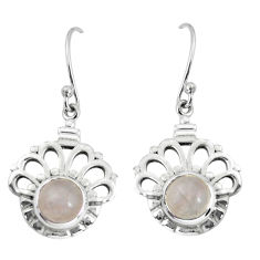 2.93cts natural pink rose quartz 925 sterling silver dangle earrings p58259