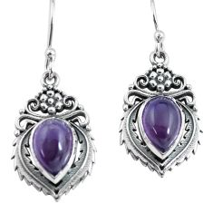 4.73cts natural purple amethyst 925 sterling silver dangle earrings p64009