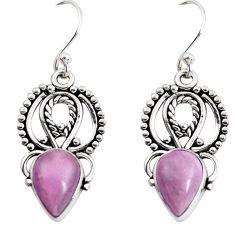 5.38cts natural purple phosphosiderite (hope stone) 925 silver earrings p52220