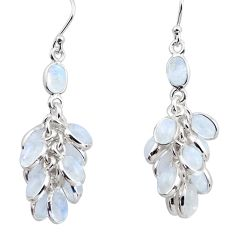 23.74cts natural rainbow moonstone 925 silver chandelier earrings p88490