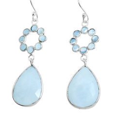 18.15cts natural rainbow moonstone 925 sterling silver dangle earrings p43580
