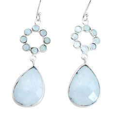 17.35cts natural rainbow moonstone 925 sterling silver dangle earrings p43600