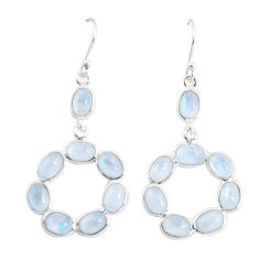 13.64cts natural rainbow moonstone 925 sterling silver dangle earrings p56913