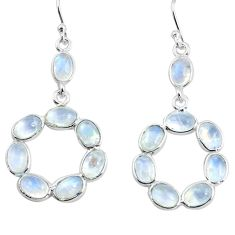 13.13cts natural rainbow moonstone 925 sterling silver dangle earrings p77360