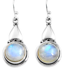 10.84cts natural rainbow moonstone 925 sterling silver dangle earrings p85638